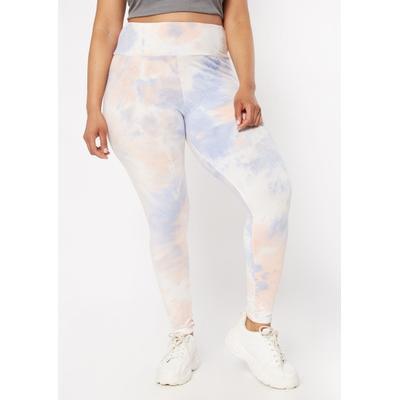 Rue21 Womens Plus Size Blue Pastel Tie Dye Super Soft Leggings - Size 4X