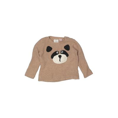 Zara Knitwear Pullover Sweater: Tan Tops - Size 18-24 Month