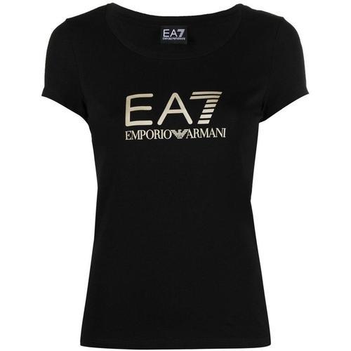 EA7 T-Shirt mit U-Ausschnitt