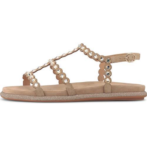 Alma en Pena, Ethno-Sandale in beige, Sandalen für Damen Gr. 39
