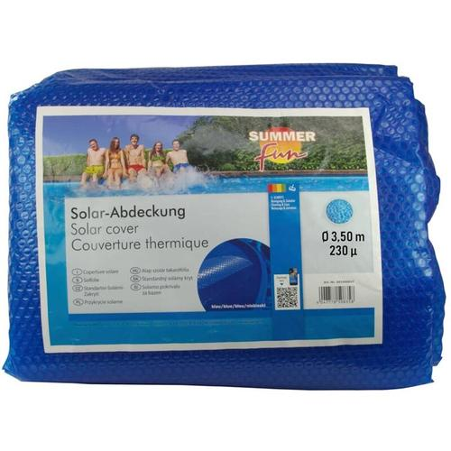 Sommer Poolabdeckung Solar Rund 350 cm PE Blau - Summer Fun