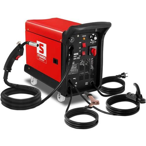 Stamos - Schweißgerät Schutzgas Inverter Kombischweißgerät 4in1 MIG MAG 195 A MMA Draht