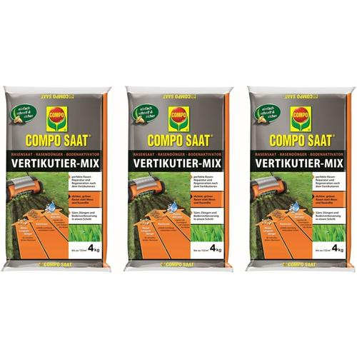 SAAT® Vertikutier-Mix 4 kg 3er Set für bis zu 399 m² - Compo
