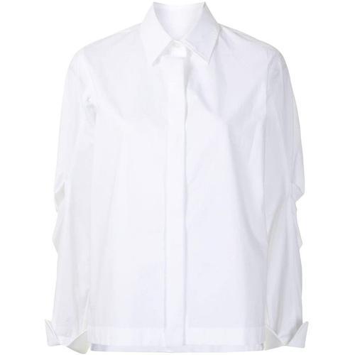 ODEEH Hemd mit Falten
