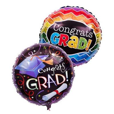 """One or Two Mylar Balloons Two """"Graduation"""" Mylar Balloons by 1-800 Flowers"""