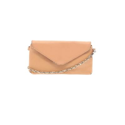 Unbranded - Leather Crossbody Bag: Tan Solid Bags