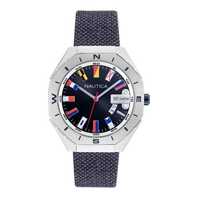 Nautica Men's Nautica Loves The Ocean Sustainable Flag-Embellished Watch Multi, OS