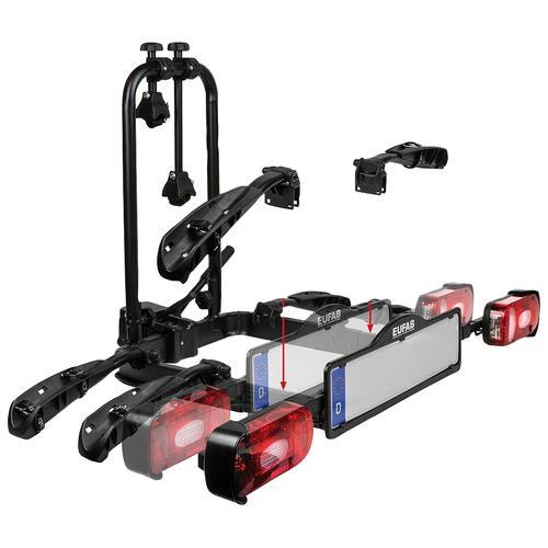 EUFAB Fahrradträger-Erweiterung CROW PLUS schwarz Fahrradträger Autozubehör Reifen