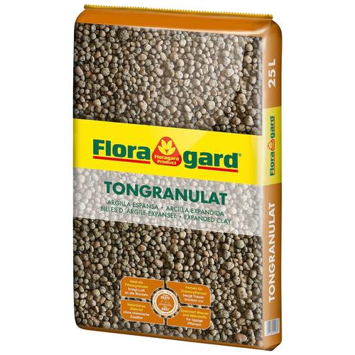 Floragard Tongranulat, 25 Liter braun Tongranulat Zubehör Pflanzen Garten Balkon