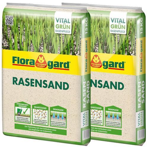 Floragard Quarzsand Rasensand, 2x15 Kg weiß Zubehör Pflanzen Garten Balkon