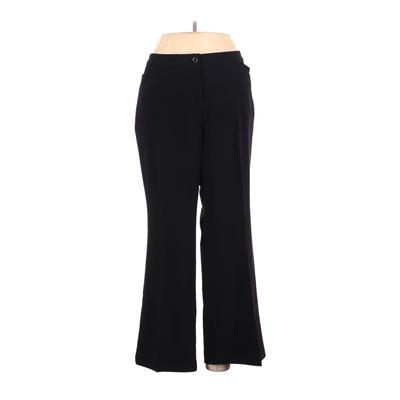 Lane Bryant Dress Pants - High Rise: Black Bottoms - Size 13 Petite