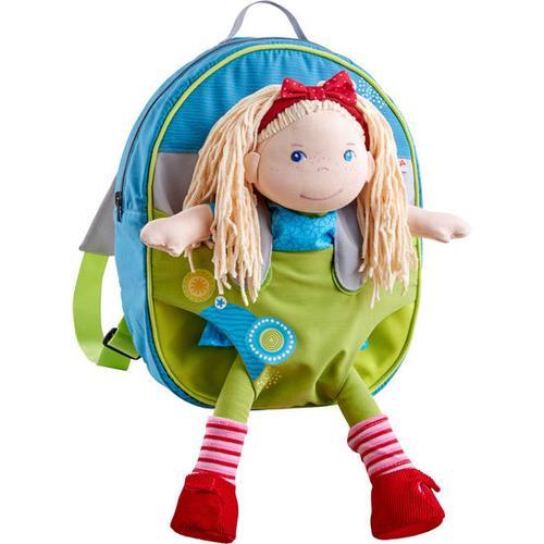 HABA Kinder-Puppenrucksack Sommerwiese, grau