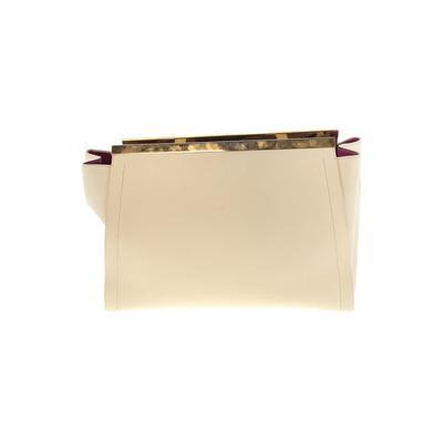 Alberta Di Canio - Alberta Di Canio Leather Shoulder Bag: Ivory Solid Bags