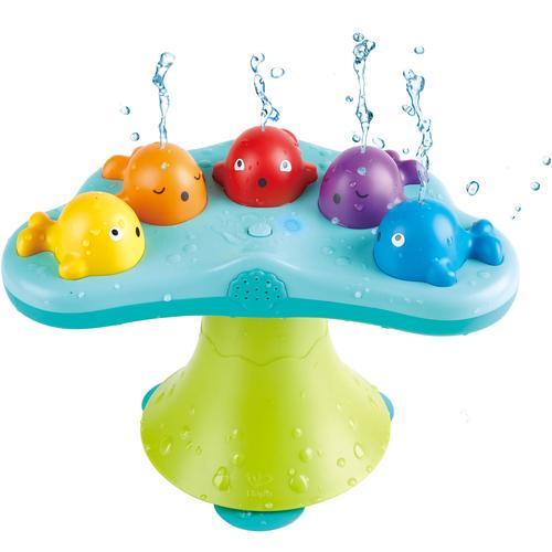 Hape Badespielzeug Musikalische Wale, mit Sound bunt Kinder Wasserspielzeug Pools Planschbecken Garten Balkon