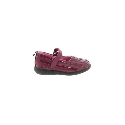 The Children's Place - The Children's Place Dress Shoes: Burgundy Solid Shoes - Size 8