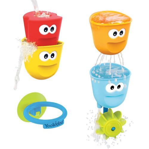 Wasserbecher-Set mit Wasserrad, bunt