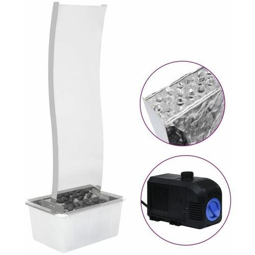 Gartenbrunnen mit Pumpe Edelstahl 130 cm Geschwungen