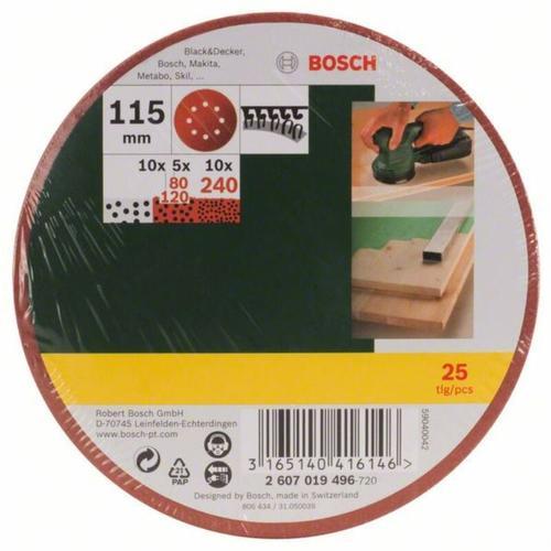 Bosch - Schleifblatt-Set für Exzenterschleifer. 25-teilig.