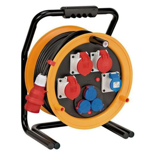Brobusta CEE 4 IP44 Industrie-/Baustellen-Kabeltrommel, 40m-Spezialgummi (Baustelleneinsatz und