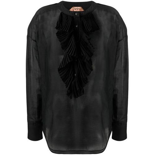 N°21 Kragenlose Bluse