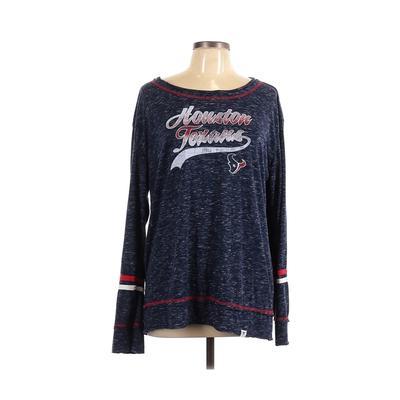 NFL Long Sleeve T-Shirt: Blue Tops - Size X-Large
