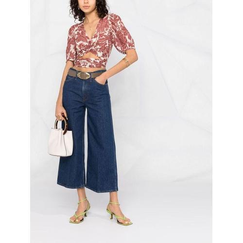 Ba&sh Bluse mit Blumen-Print