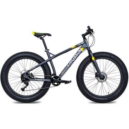 Chrisson Fatbike Fat Three, 9 Gang, Shimano, Acera RD-M360-SGS Schaltwerk, Kettenschaltung grau Alle Fahrräder Zubehör