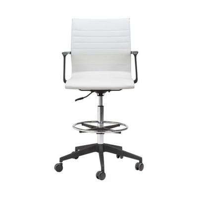 Zuo White Stacy Drafter Office Chair