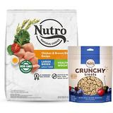 Nutro Natural Choice Healthy Weight Large Breed Adult Chicken & Brown Rice Recipe Dry Food + Crunchy with Real Mixed Berries Dog Treats