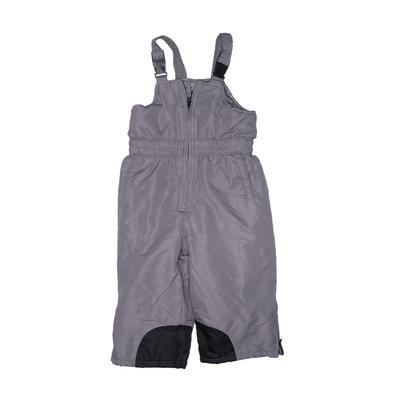 Faded Glory Snow Pants With Bib - Elastic: Gray Sporting & Activewear - Size 3Toddler
