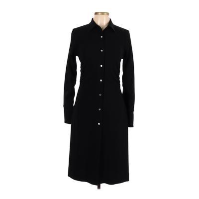 Banana Republic - Banana Republic Casual Dress - Shirtdress: Black Solid Dresses - Used - Size 8