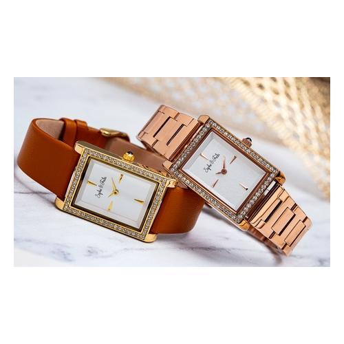 Sophie&Freda Armbanduhr mit Swarovski®-Kristallen: Rosa