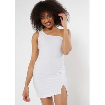 Rue21 Womens White One Shoulder Bodycon Dress - Size M
