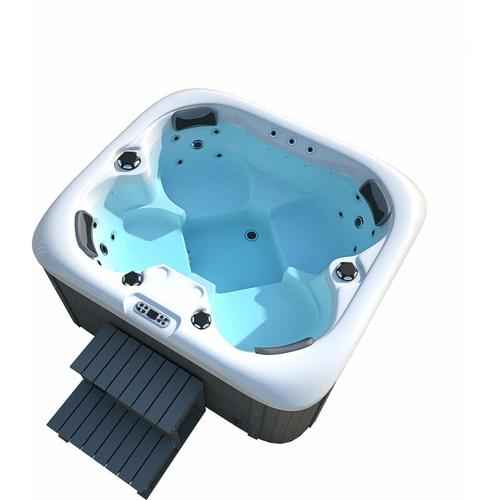 Outdoor Whirlpool Sea Star plus Treppe und Thermoabdeckung I Jacuzzi, Außenpool, Spa - Home Deluxe