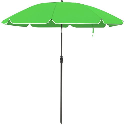 Sonnenschirm für Strand, Ø 160 cm, Gartenschirm, UV-Schutz bis UPF 50+, knickbar, Sonnenschutz,