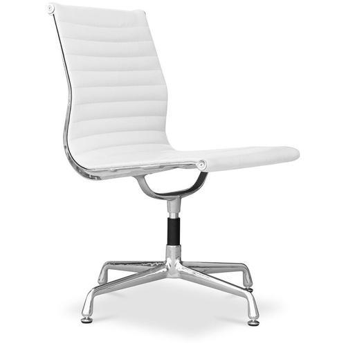 Bürostuhl T5 - Hochwertiges Leder Weiß