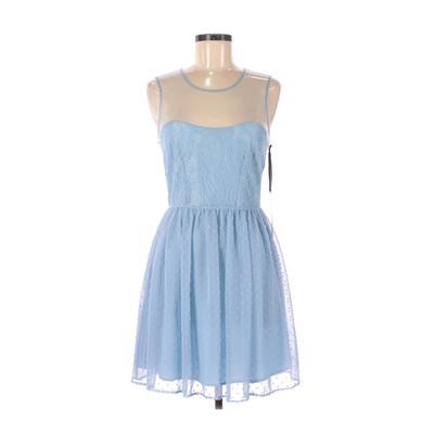 Rodarte for Target Cocktail Dress - A-Line: Blue Solid Dresses - Used - Size 9