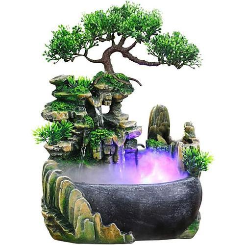 Bearsu - Wasserfall im Innen- und Außenbereich, Desktop- und Tischbrunnen, Dekoration, Wasserspiel