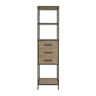 Accentrics Home Modern Iron Framed Display Cabinet with Three Shelves and Three Drawers - Home Meridian D324-301