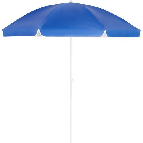 Sonnenschirm UV-Schutz Strandschirm Neigefunktion höhenverstellbar Gartenschirm blau - 200cm