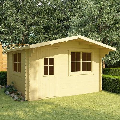 Blockhaus 44 mm 400×376×243,5 cm Kiefer Massivholz