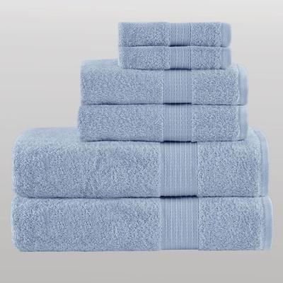 Organic Cotton Bath Towel Set Six Piece Set, Six Piece Set, Blue