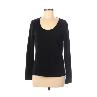 Philosophy Republic Clothing - Philosophy Republic Clothing Long Sleeve T-Shirt: Black Solid Tops - Size Large