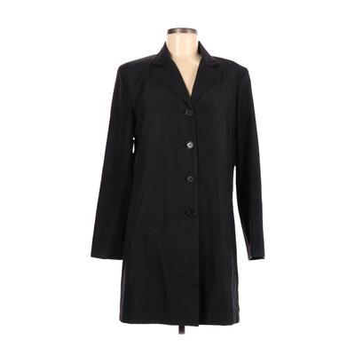 Ann Taylor Jacket: Black Solid Jackets & Outerwear - Size Medium