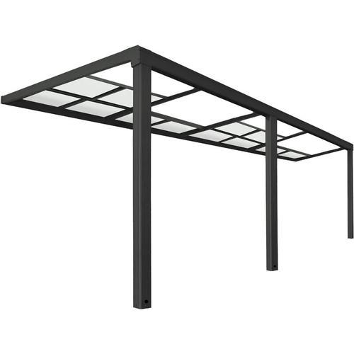 Terrassenüberdachung Deluxe - V2 600 x 300 cm, grau I Terrassendach, Überdachung, mit Schiebedach