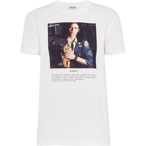 Miu Miu T-Shirt mit Foto-Print
