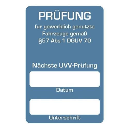 2 Rollen je 250 Kundendienst-Aufkleber »Nächste UVV-Prüfung« blau, EICHNER, 6x4 cm