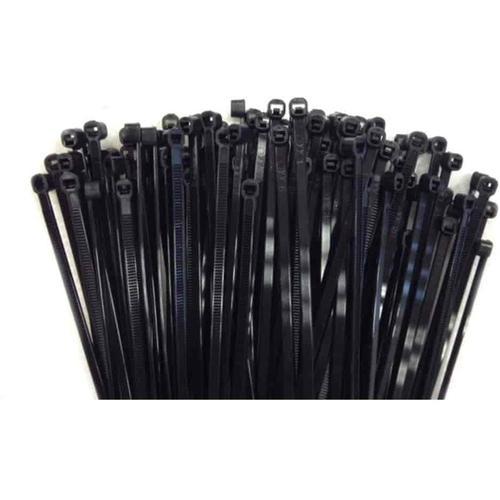 100 Kabelbinder 250x7,6mm schwarz (UV-stabilisiert) PA6.6