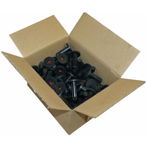 50x Schallschutzdübel 14mm Gummidübel Schallschutz-Dübel mit Bund