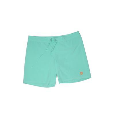 Roxy Board Shorts: Blue Solid Swimwear - Size Medium